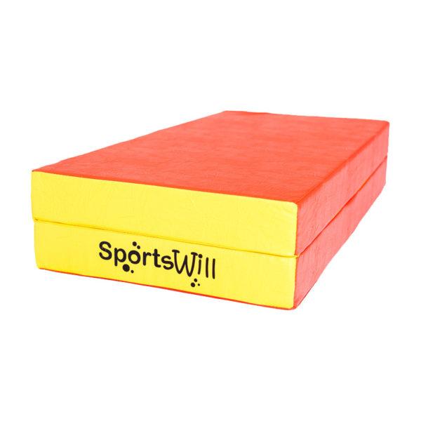 800-Мат-SportsWill-100-х-100-х-10-скл-красн