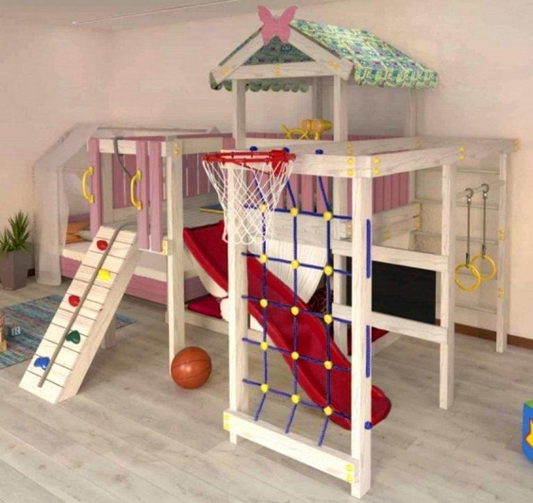 Детский игровой комплекс чердак ДК3р1