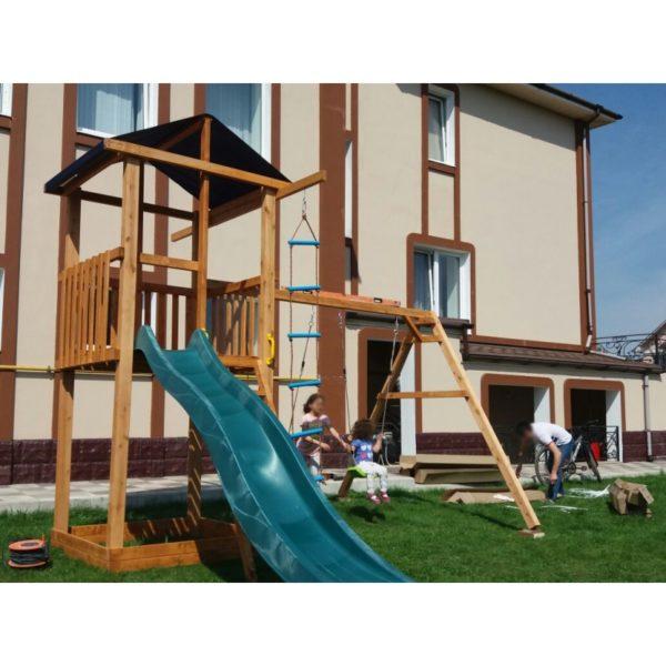 Детская площадка Можга Спортивный городок 1 крыша тент с качелями1