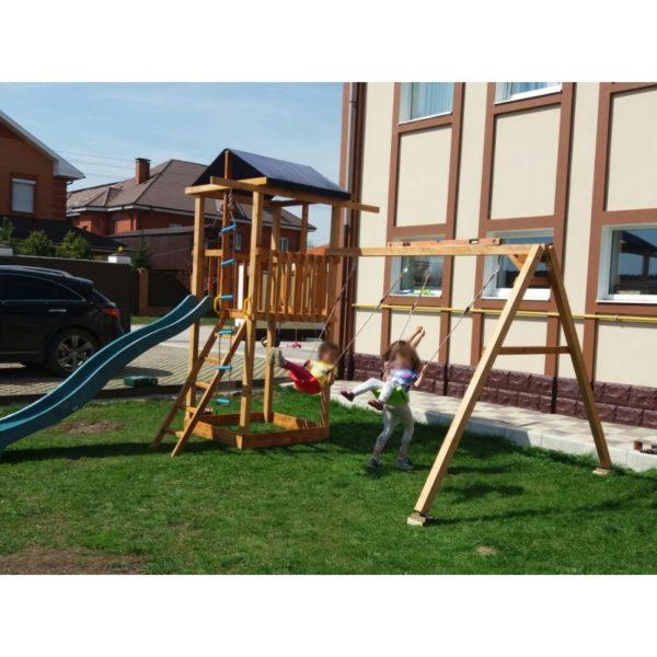 Детская площадка Можга Спортивный городок 1 крыша тент с качелями2