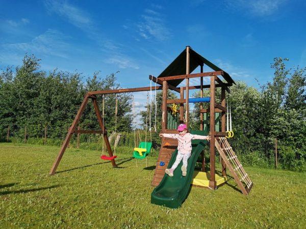 Детская игровая площадка Сибирика с сеткой фото