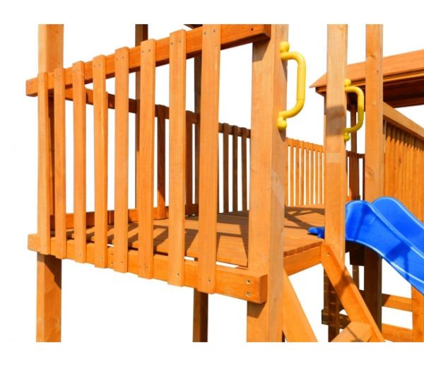Детская площадка Можга Спортивный городок 6 с качелями и узким скалодромом
