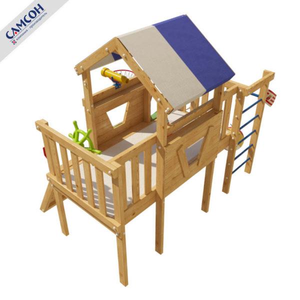 Детский игровой комплекс-чердак Винни