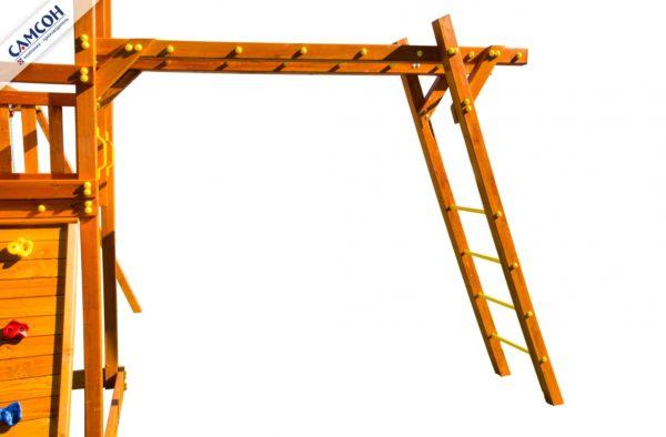 Рукоход деревянный с металлическими перекладинами