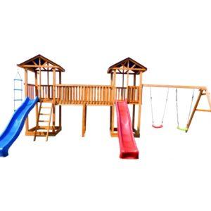 Детская площадка Можга Спортивный городок 6 с качелями крыша тент
