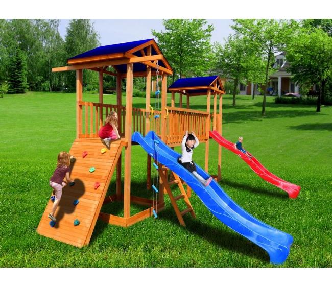 Детская площадка Можга Спортивный городок 6 с широким скалодромом тент3