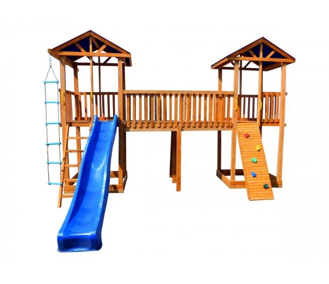 Детская площадка Можга Спортивный городок 7 с узким скалодромом крыша тент