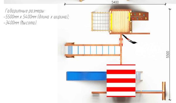 Детский игровой комплекс для дачи Савушка 17