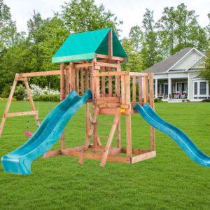Детская площадка Babygarden с балконом и двумя горками