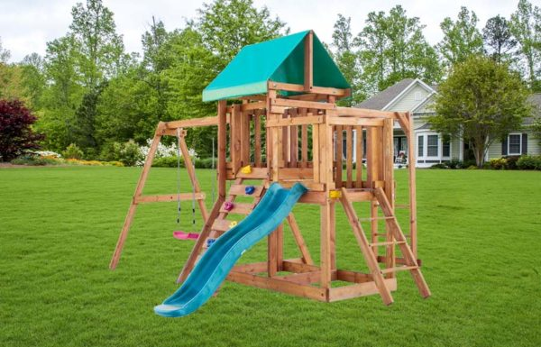 Детская площадка для дачи Babygarden с балконом рукоходом скалолазкой и горкой 1.8м