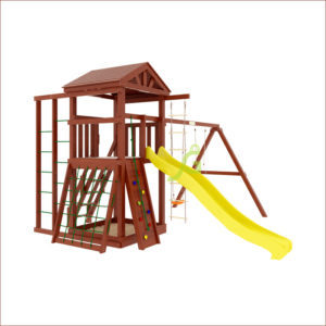 """Детская площадка IgraGrad """"Панда Фани Fort"""" с сеткой"""