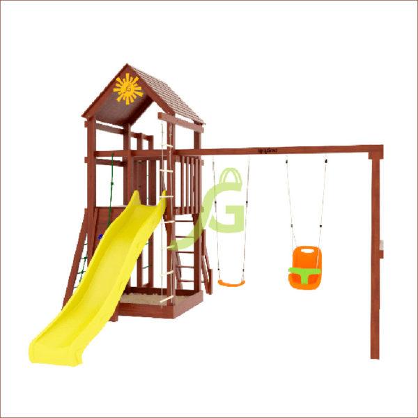 Детская площадка IgraGrad Панда Фани Fort с сеткой1
