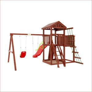 """Детская площадка IgraGrad """"Панда Фани с балконом и сеткой""""_1"""