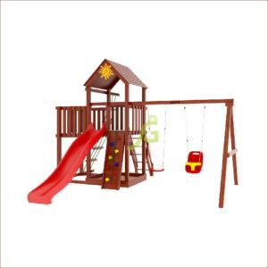 Детская площадка IgraGrad Панда Фани с балконом1