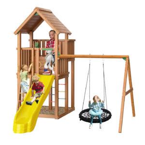 Детская площадка Jungle Palace + Swing X'tra c гнездом