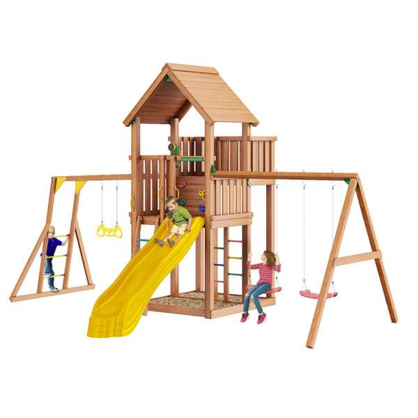 Детская площадка Jungle Palace + Swing X'tra + рукоход с гимнастическими кольцами