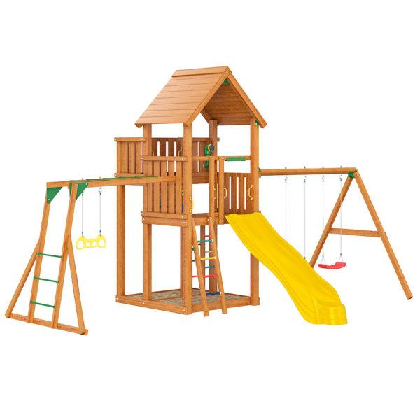 Детская площадка Jungle Palace + Swing X'tra + рукоход с гимнастическими кольцами1