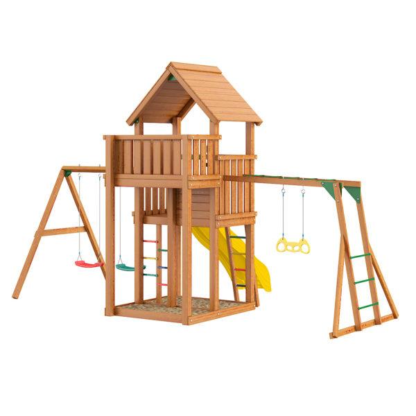 Детская площадка Jungle Palace + Swing X'tra + рукоход с гимнастическими кольцами2