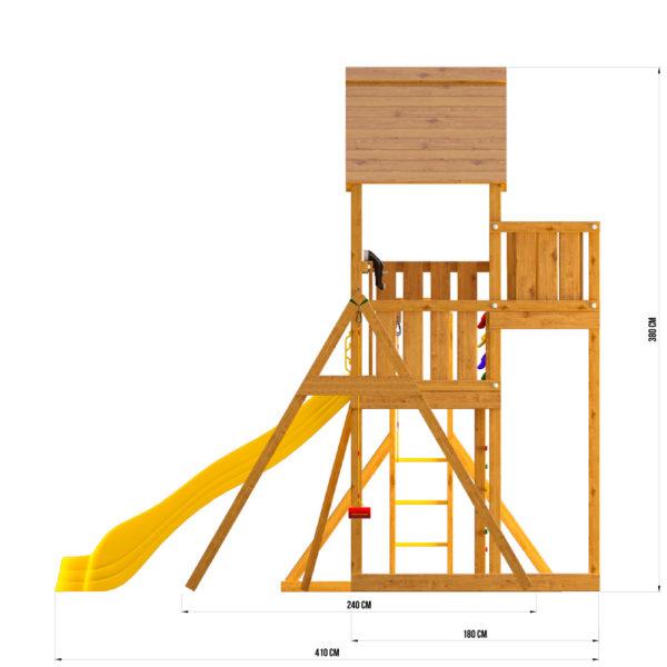 Детская площадка Jungle Palace + Swing X'tra + рукоход с гимнастическими кольцами4