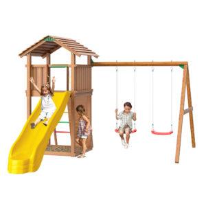 Детские городки Jungle Cottage+SwingModule Xtra + Rock Module