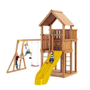Детская площадка Jungle Palace + Рукоход с качелями Лодочка