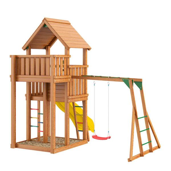 Детские городки Jungle Palace + Рукоход с сидушкой2