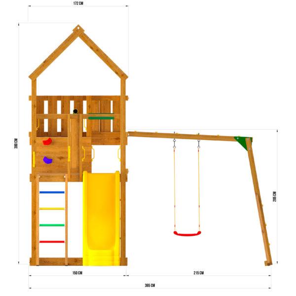 Детские городки Jungle Palace + Рукоход с сидушкой3