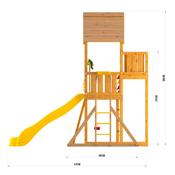 Детские городки Jungle Palace + Рукоход с сидушкой4