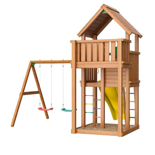 Детские городки Jungle Palace + Swing X'tra2