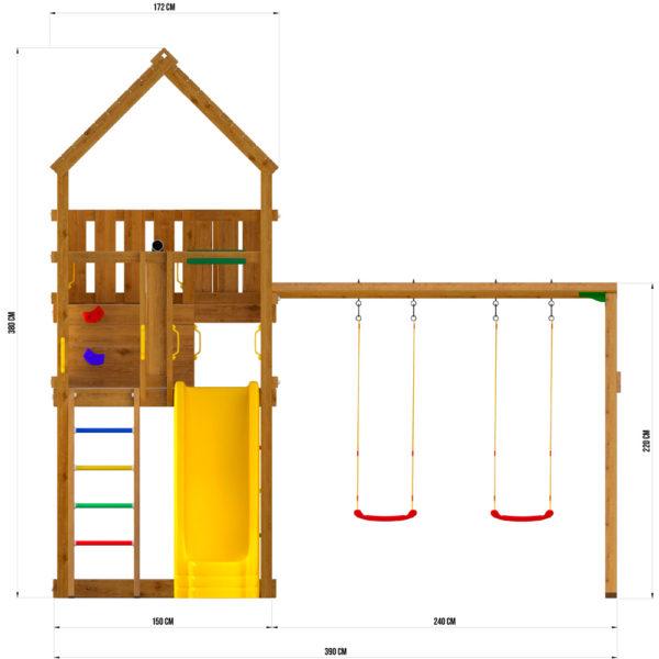 Детские городки Jungle Palace + Swing X'tra3