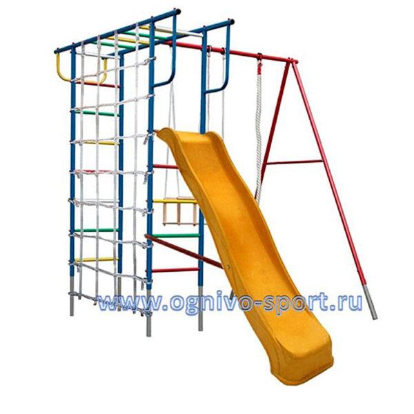 Детская площадка Вертикаль-П дачный с сеткой и горкой 3.0 м