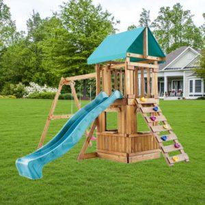 Детская площадка Babygarden с закрытым домиком скалолазкой и горкой 2.4м