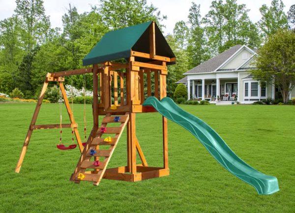 """Детская площадка для дачи """"Babygarden"""" со скалолазкой и горкой"""