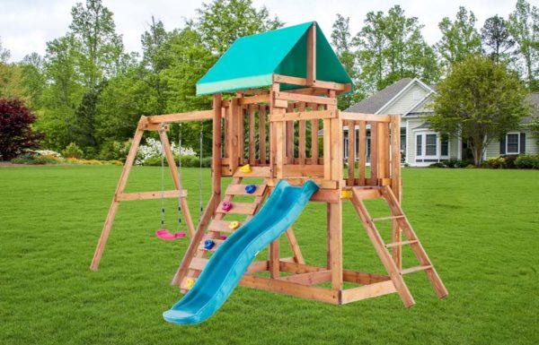 Детская площадка для дачи Babygarden с балконом скалолазкой и горкой 1.8м