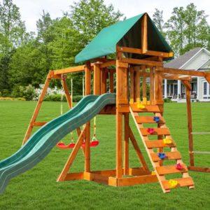 Детская площадка Babygarden с рукоходом скалолазкой и горкой