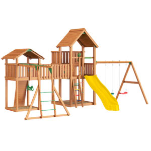 Jungle Palace + bridge Link + cottage(без горки) + swing + Rock + Рукоход с гимнастическими кольцами1