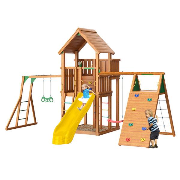 Jungle Palace + climb + Рукоход с гимнастическими кольцами