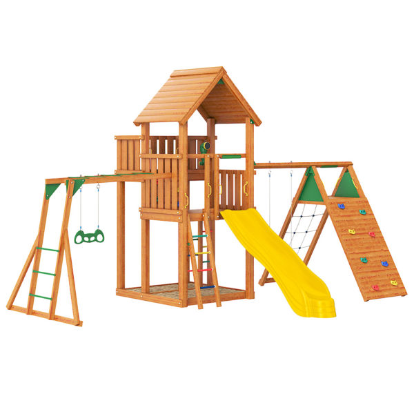 Jungle Palace + climb + Рукоход с гимнастическими кольцами1
