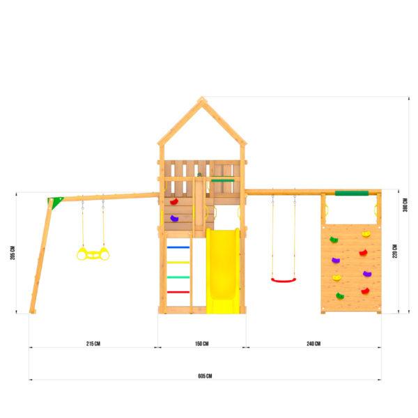 Jungle Palace + climb + Рукоход с гимнастическими кольцами3