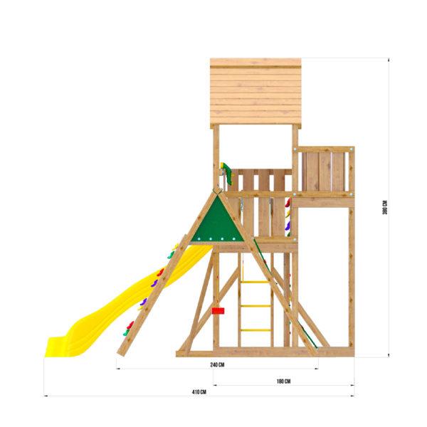 Jungle Palace + climb + Рукоход с гимнастическими кольцами4