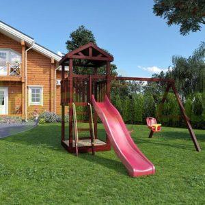 """Детская площадка IgraGrad """"Панда Фани Tower"""" с качельным модулем1"""
