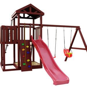 """Детская площадка IgraGrad """"Панда Фани с балконом и сеткой"""""""