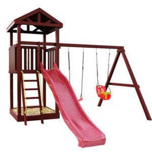 """Детская площадка IgraGrad """"Панда Фани Tower"""" с качельным модулем"""