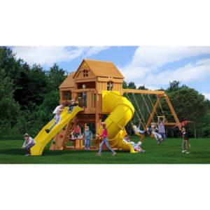 Детский игровой комплекс Р955 Панорама с трубой и горкой