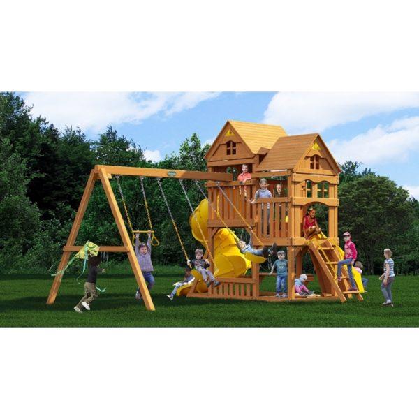 Детский игровой комплекс Р955 Панорама с трубой и горкой_1