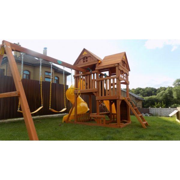 Детский игровой комплекс Р955 Панорама с трубой и горкой_3