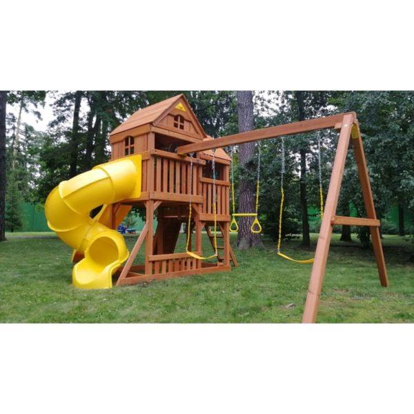 Детский игровой комплекс Р955 Панорама с трубой и горкой_4