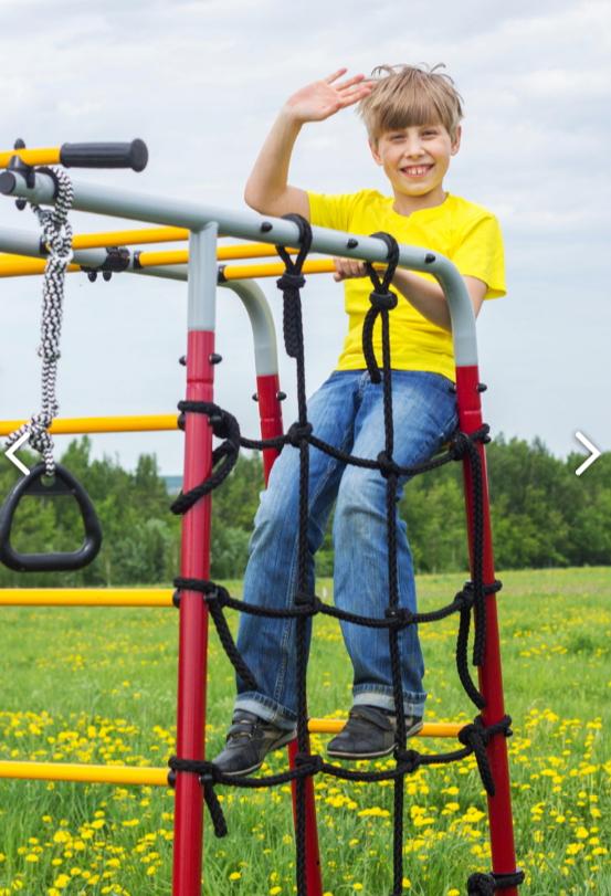 Детский спортивный комплекс для дачи ROMANA Богатырь Плюс качели фанерные