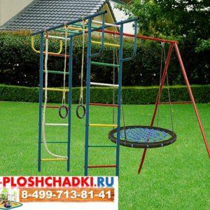 Детская площадка Вертикаль П плюс качели-гнездо