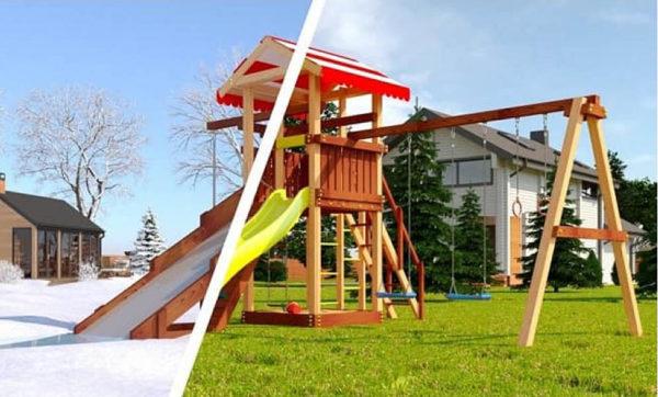Детская площадка из дерева Савушка 4 сезона — 3